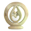 Lover's Embrace Natural Stone Sculpture, 8-inch