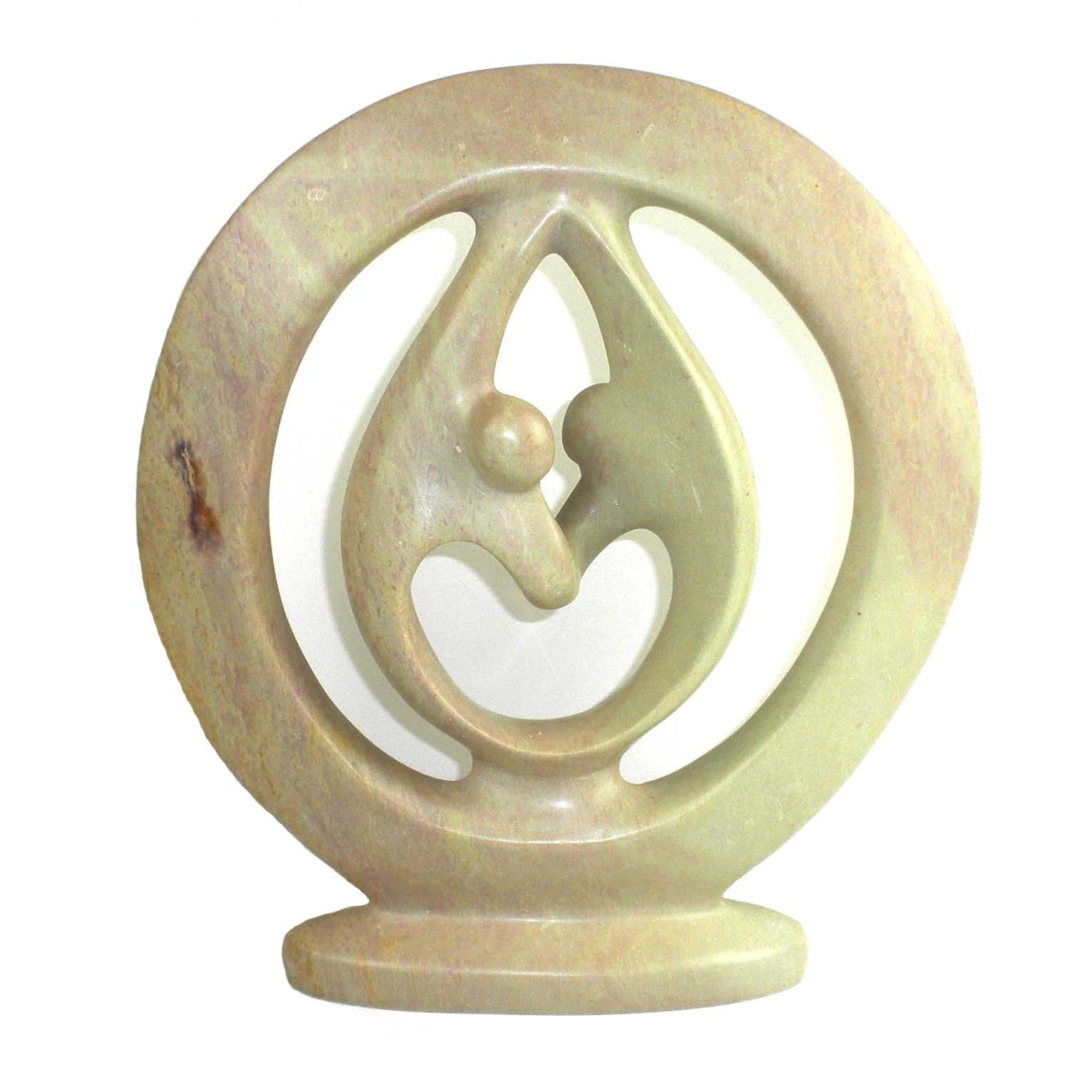 Lover's Embraces - Natural Soapstone - Size Options Available