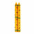 Hand Painted Taper Candles, Pair, Yellow Masika Design