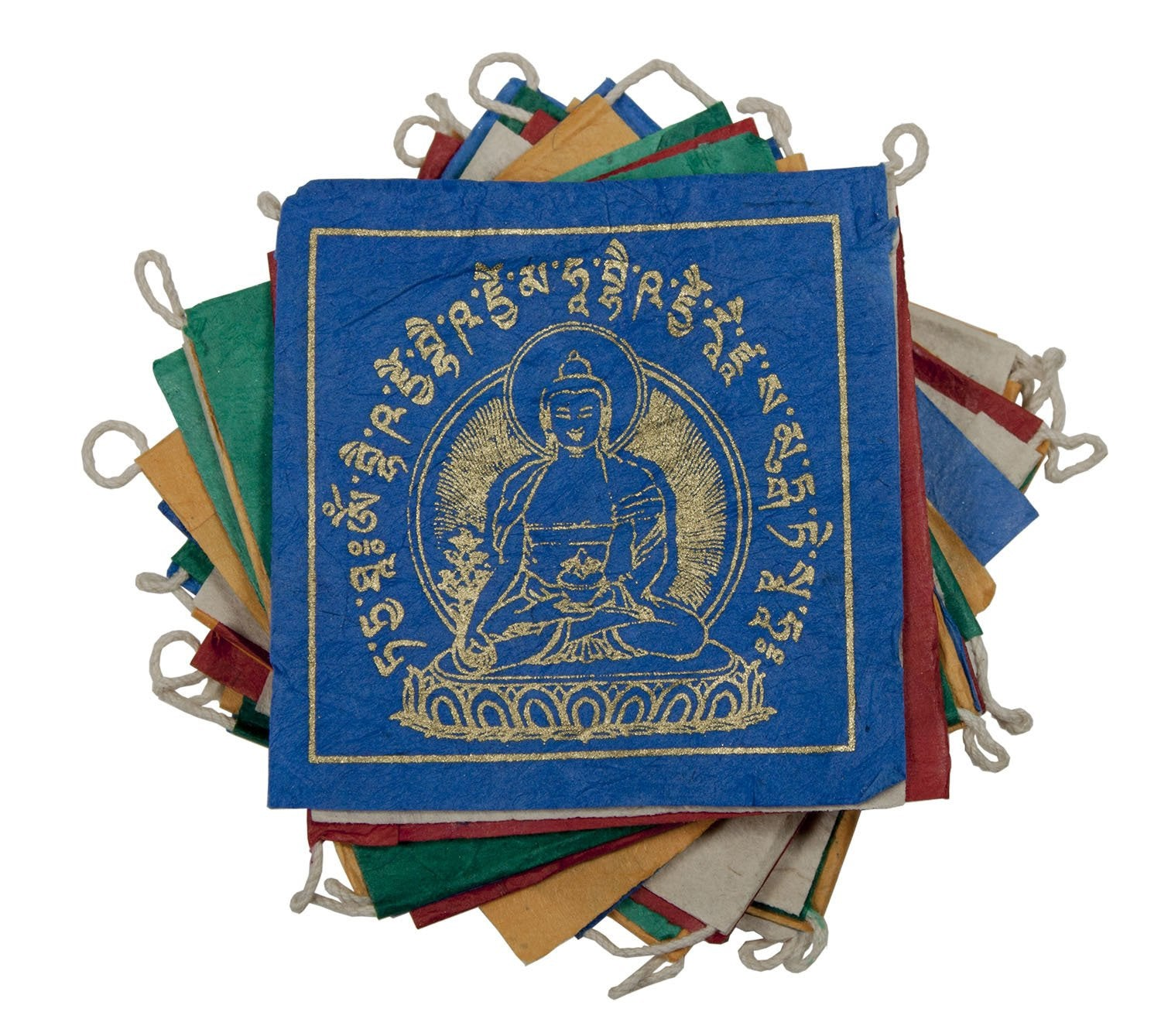 Paper Prayer Flag: 8 ft Medicine Buddha