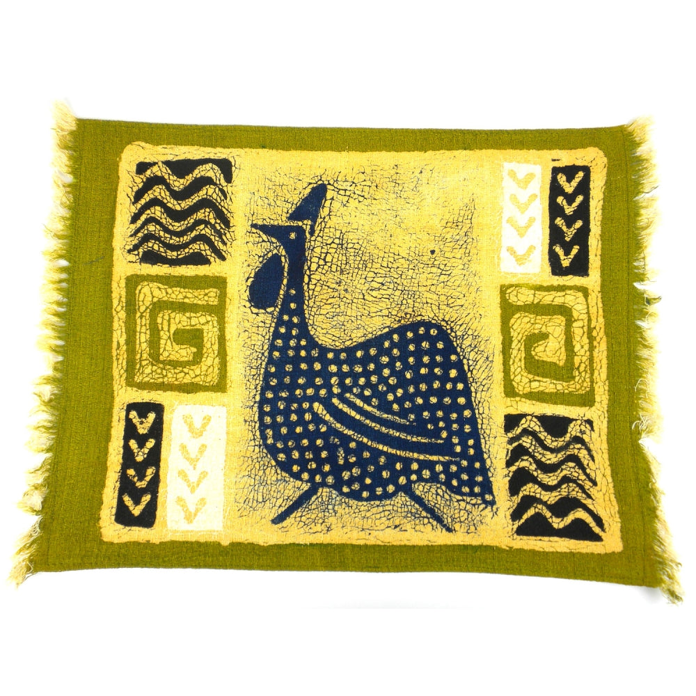 Green Guinea Fowl Placemat