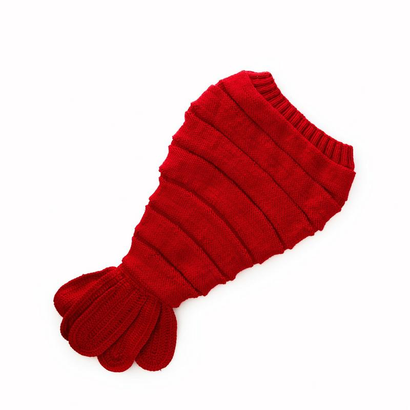 Knit Lobster Baby Swaddle  - Handmade