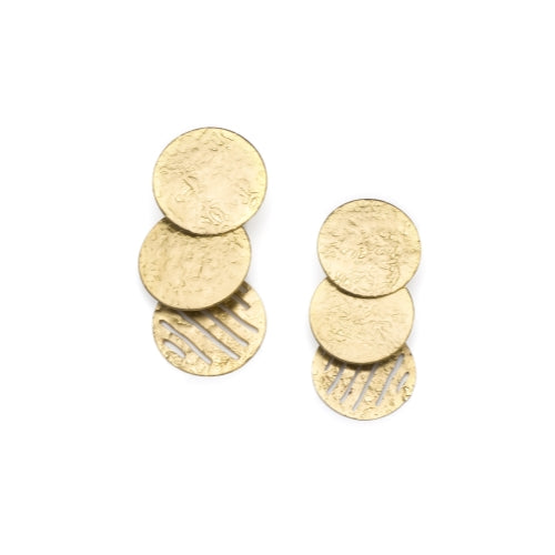 Nihira Earrings - Gold Coins