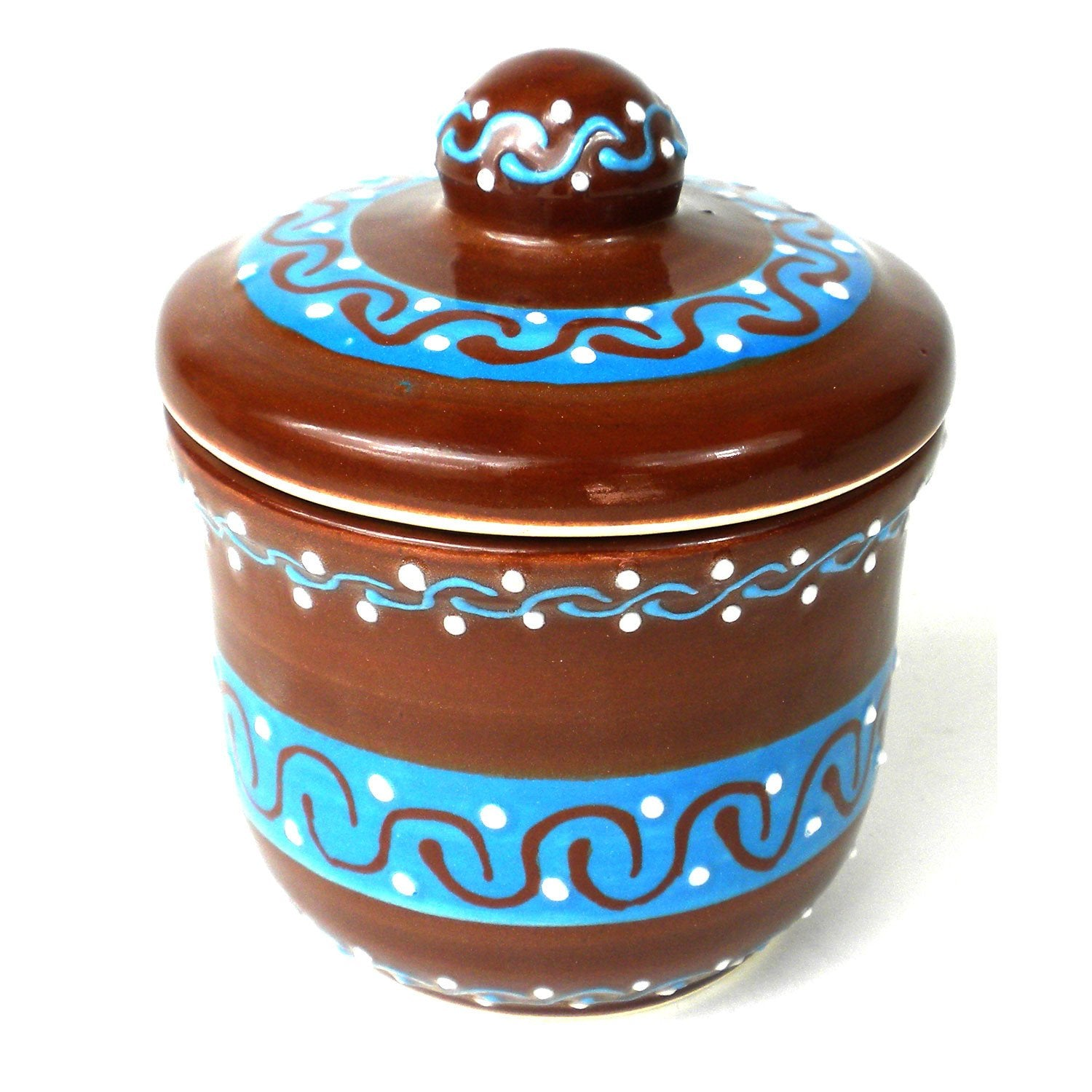 Encantada Handmade Pottery Sugar Bowl, Chocolate