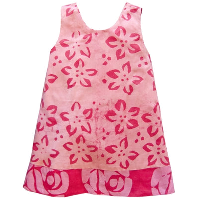 Girls Reversible Dress - Starflower Pink S2