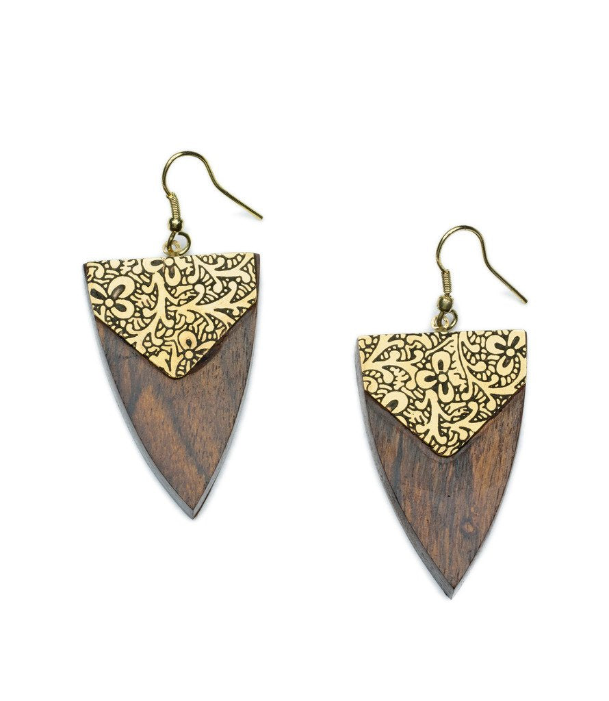 Durga Arrowhead Earrings