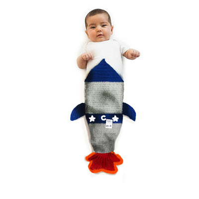 Knit Rocket Baby Swaddle - Handmade