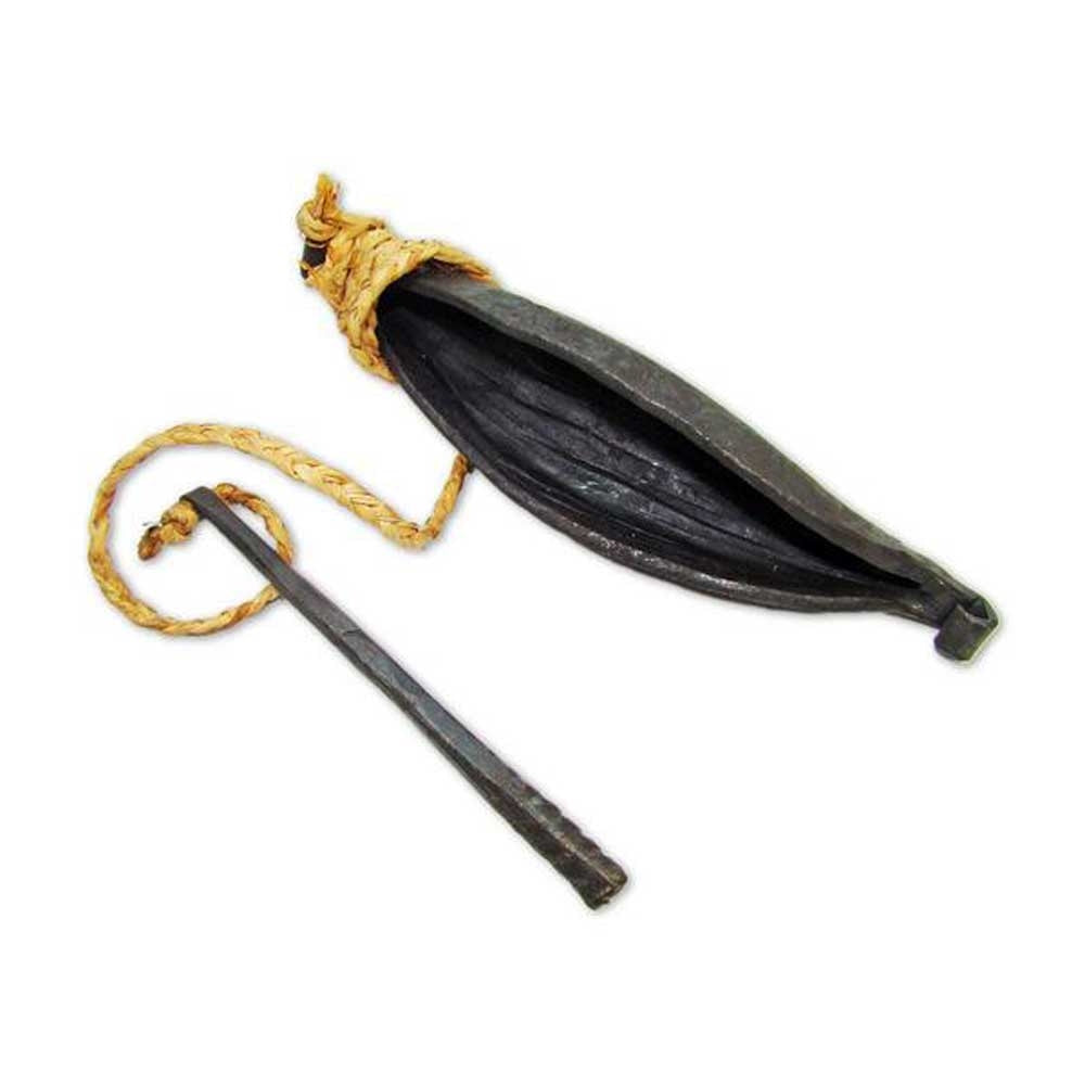 Iron Banana Bell and Striker 8 inch