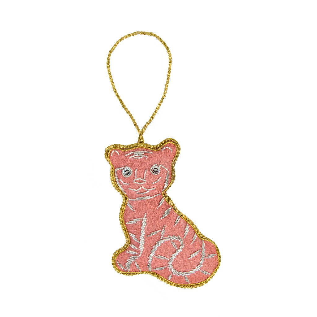 Felt Holiday Ornament Tiger