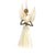 3.5 inch Sisal Angel Ornament - Star