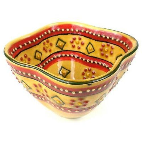 Hand Painted Dip Bowl - Red