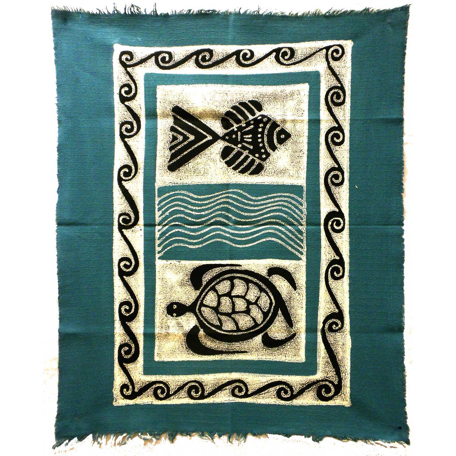 Sea Life Batik - Blue/Black - Small