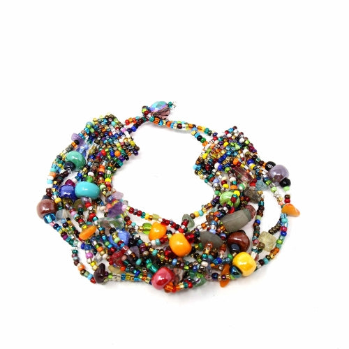 Beachball Beaded Bracelet - Multi