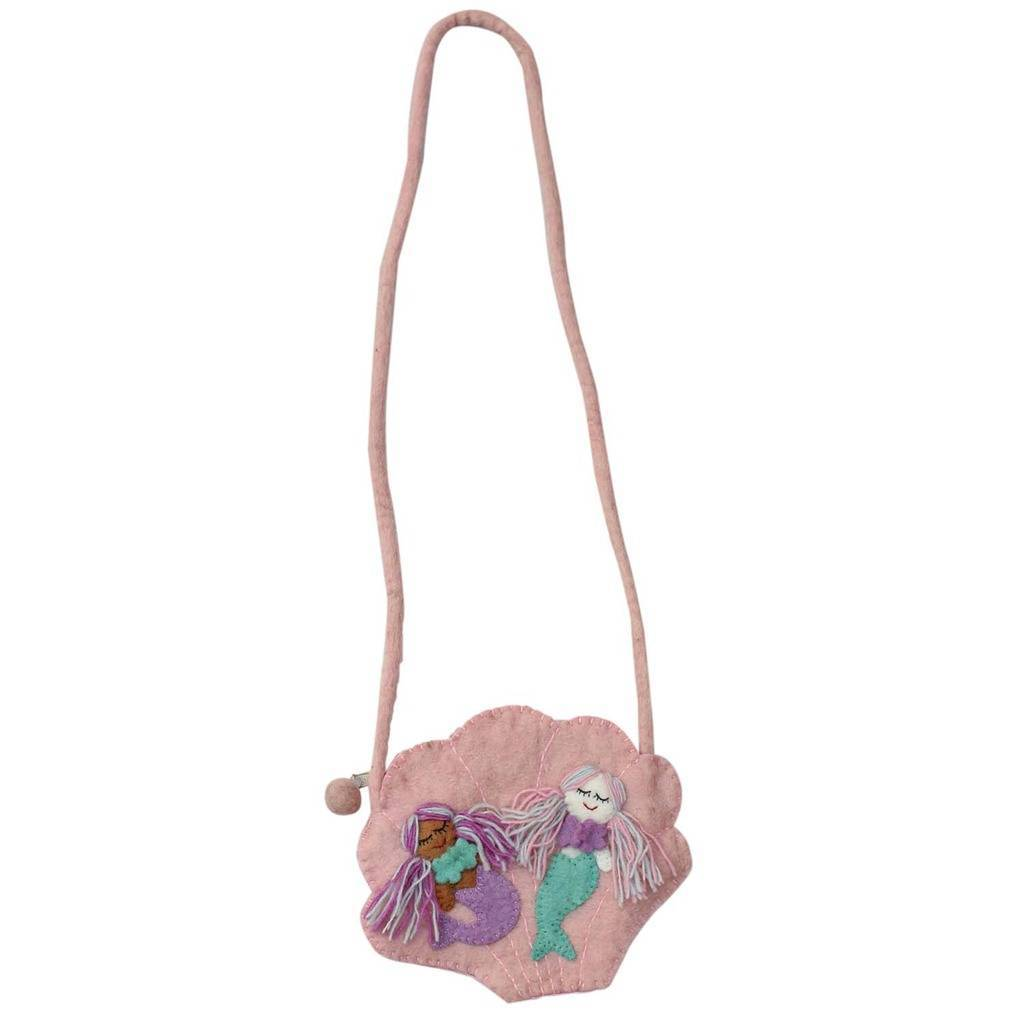 Hand Crafted Felt from Nepal: Shoulder Bag, Mermaid
