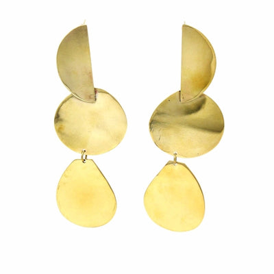 Brass Geometric Dangle Earring