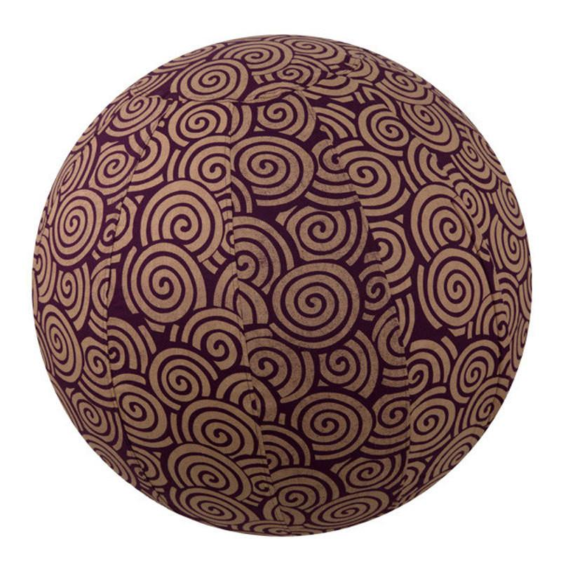 Yoga Collection 55cm Yoga Ball Cover, Plum Swirl