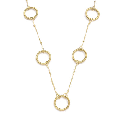 Kaia Necklace - Gold Rings