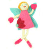 Blond Hair Tooth Felt Tooth Fairy Pillow
