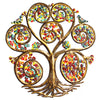 Autumn Spiral Tree of Life Haitian Metal Drum Wall Art, 24""