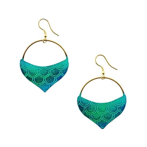 Jaladhi Earrings - Mermaid