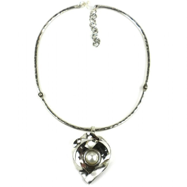 Wrapped Pearl Silver-Plated  Necklace