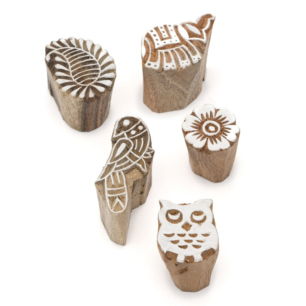 Mini Block Print Blocks - (Set of 5)