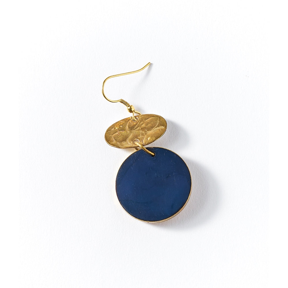 Ria Earrings - Cobalt Drop