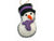 Christmas Purple Snowman Felt Ornament