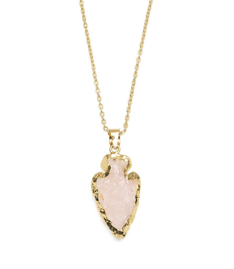 Abbakka Arrowhead Necklace - Rose