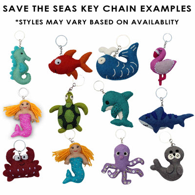 Intro to Felt Keychains - 54 Save the Seas Pieces + FREE Display