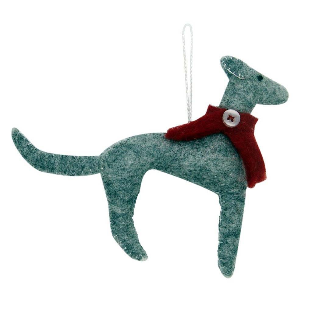 Greyhound Dog Felt Ornament
