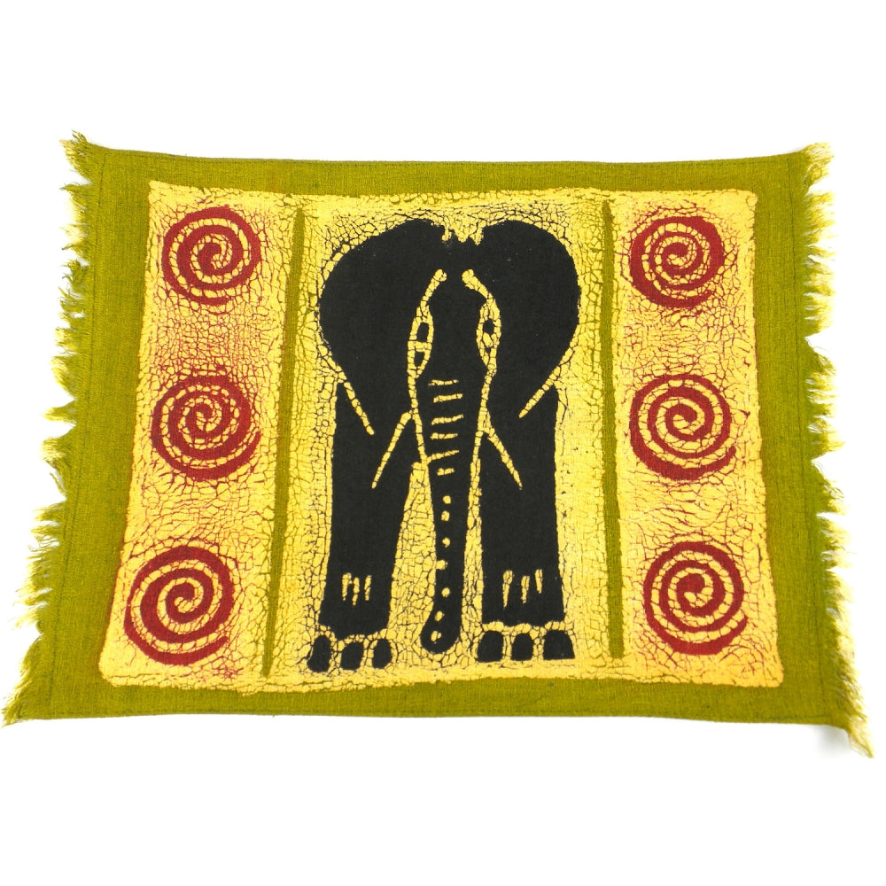 Elephant in Black Placemat