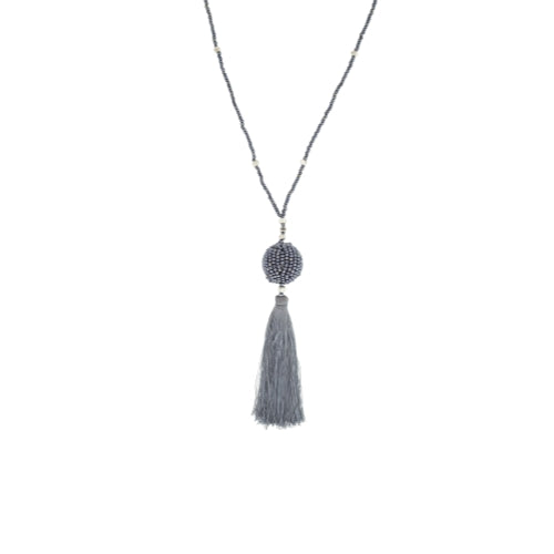 The Wanderer Tassel Necklace, Steel