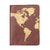 Globetrotter Leather Passport Cover - Brown
