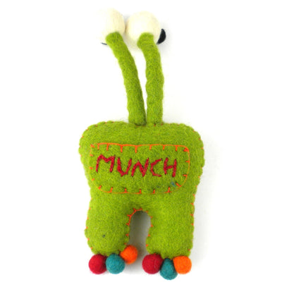 Tooth Fairy Pillow with Pocket for Money Monster, Green