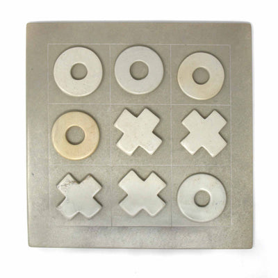 Handcarved Soapstone Tic-Tac-Toe Game Set