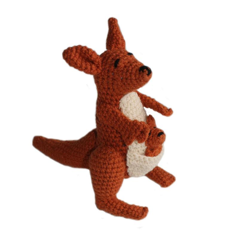 Knit Kangaroo Rattle