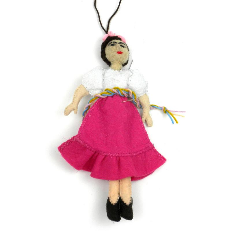 Frida Kahlo Felt Ornament