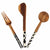 Olive Wood 3 Piece Appetizer Serving Set