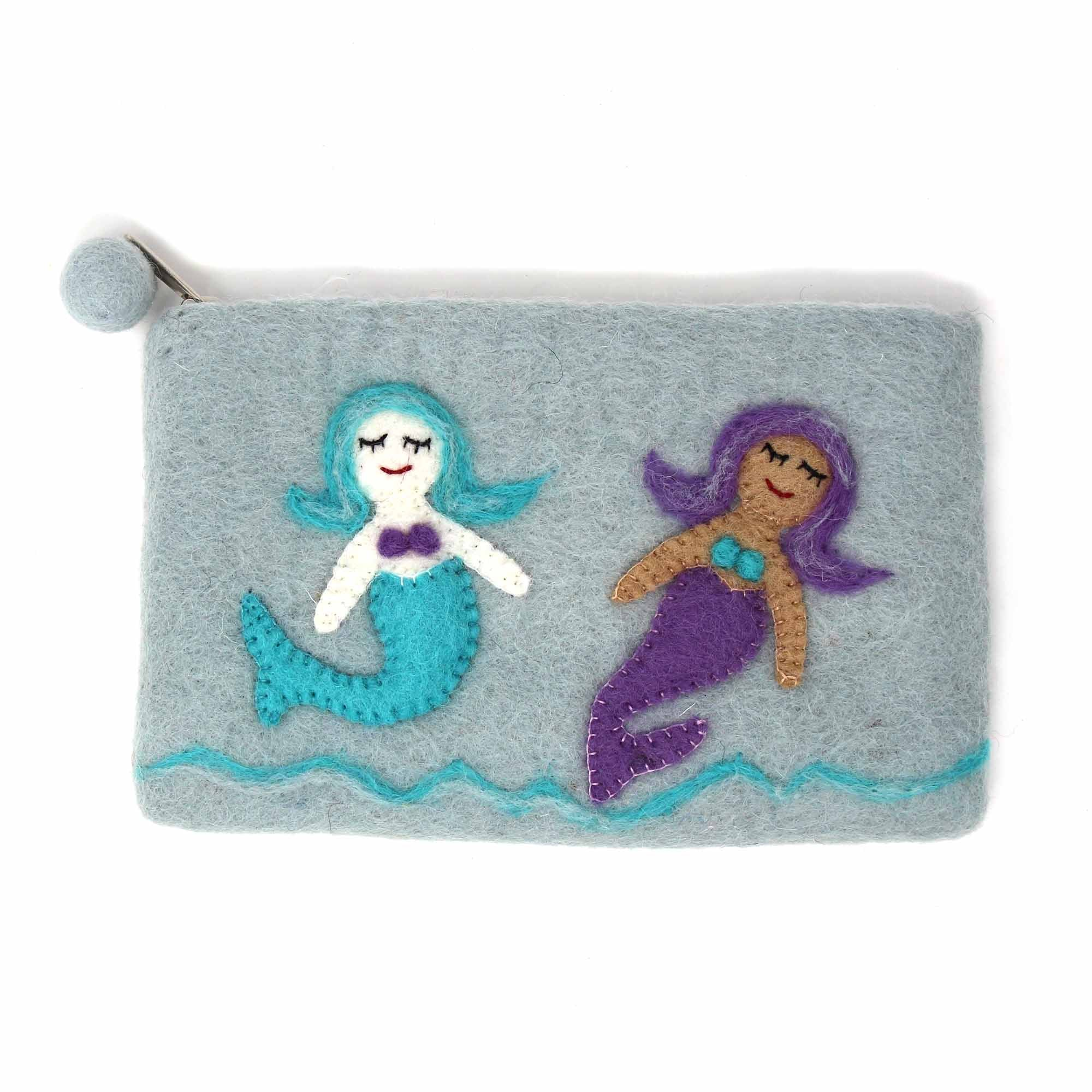 Mermaid Felt Zipper Pouch