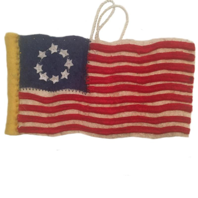Felt Colonial American Flag Ornament
