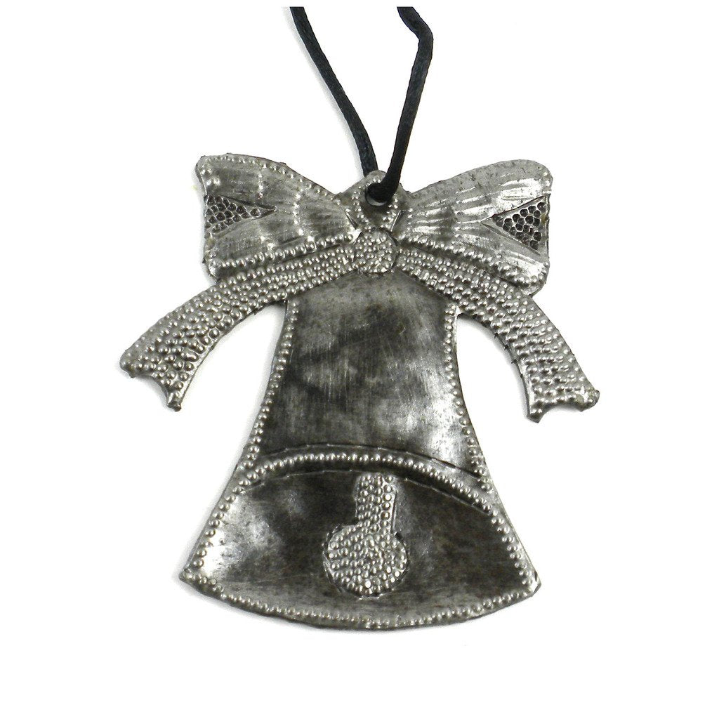 Bell and Bow Steel Drum Ornament