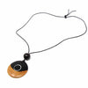 Two-Tone Blackwood With a White Circle Necklace