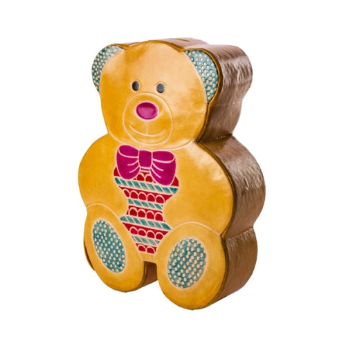 Leather Teddy Bear Bank