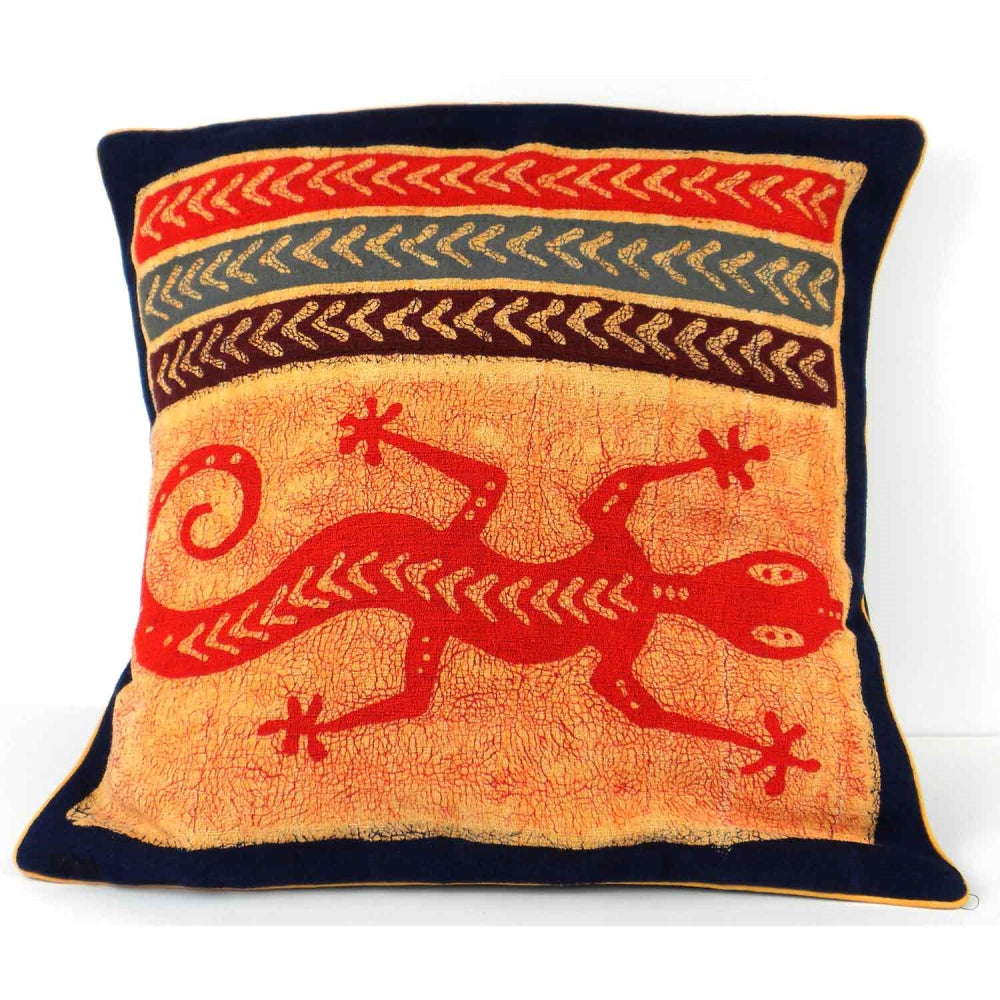 Handmade Gecko Batik Cushion Cover