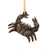 Crab Nautical Haitian Metal Drum Christmas Ornament