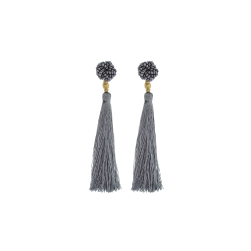 The Rosette Tassel Earring, Steel