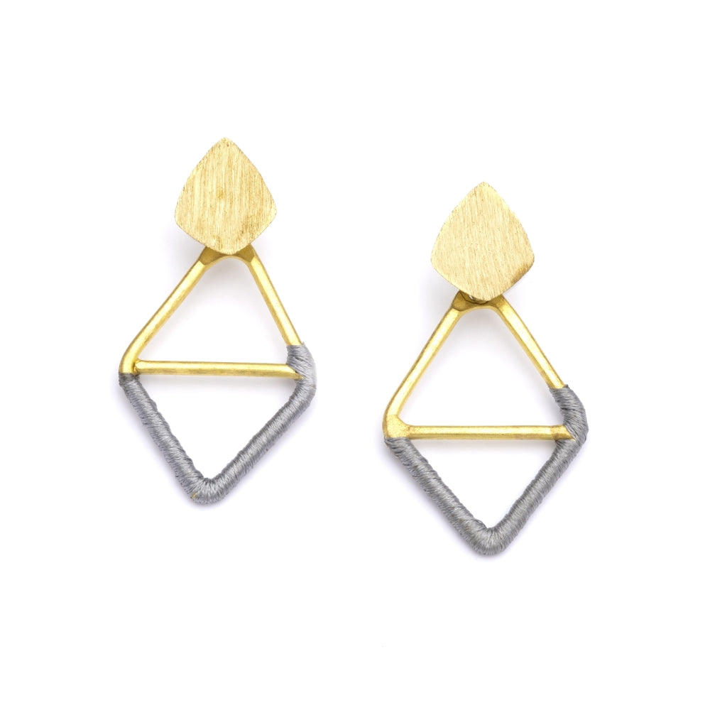 Kaia Earrings - Gray Diamond