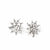Mexican Taxco Sunburst Silver-Plated Stud Earrings