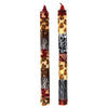 Hand-Painted Dinner Candles, Pair (Uzima Design)